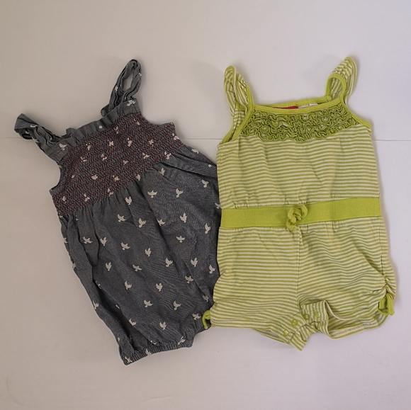 Hatley Other - Hatley Baby girl summer romper lot
